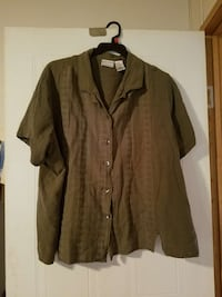 Olive Green Shirt Size 30/32