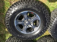 Jeep Wrangler gladiator Rubicon JL wheels and tires LT 285/70R17 Indialantic, 32903