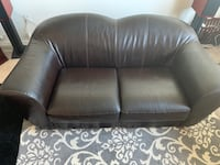 Sofa love seat brown leather (real leather) used in good condition. Washington, 20010