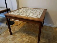 End table. Teak wood with ceramic tiles 528 km