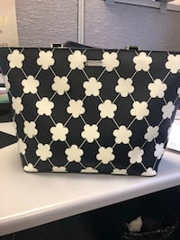 black and white floral print tote bag Charleston, 25301