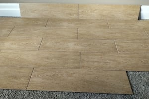 "Brand New 6"" x 24"" Brown/Beige Wood Procelain Tiles"