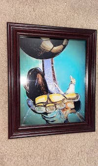 Soccer on the wall poster decoration