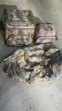 Camo coolers and large bag.