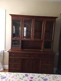 Wooden Antique China Cabinet brown hosier cabinet Silver Spring, 20910