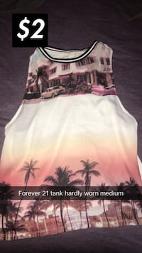 white and pink floral tank top Fresno, 93726
