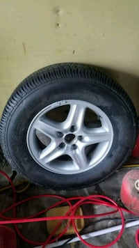 Wheel and new tire