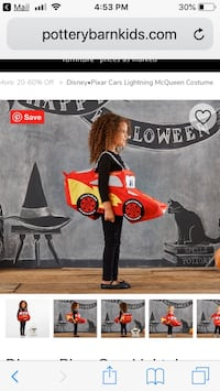LIGHTNING MC QUEEN Costume from Pottery Barn Kids Miami, 33130