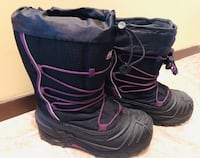 pair of black-and-purple duck boots Kingsey Falls, J0A