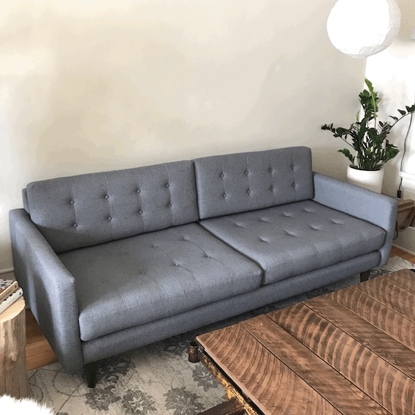 Used Mid Century Modern Tufted Sofa with 2 Extra Couch Seating ...