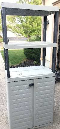 Storage cabinet with doors - Size 27.5 x 17.5 x 69 tall