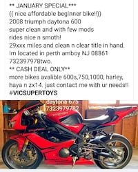 08 triumph daytona (I have more bikes 4sale) gsxr , r6 and civic with accord ( r6 ) hayabusa f150