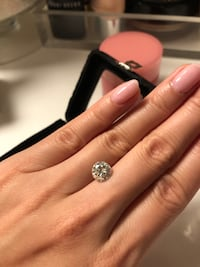 2ct Moissanite, Charles and Colvard - Forever One Vancouver, V5Y