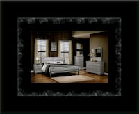 11pc Grey Marley bedroom set with mattress Ashburn