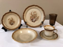 Mikasa Wheat Dishes, Bowls, coffee cups, Lennox Glasses  A++++