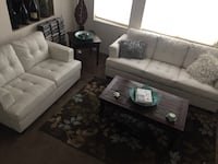 Couch and love seat white  North Las Vegas, 89032