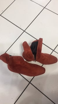 pair of red suede boots Coquitlam, V3C 2B9