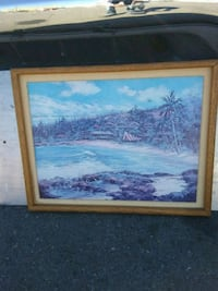 Island painting by Joyce clark in good condition Oakland, 94606