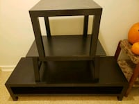 brown wooden framed glass top table Fort Hood, 76544