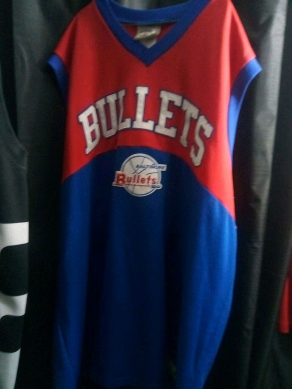 buy online f6620 c27d1 blue and red Chicago Bulls jersey