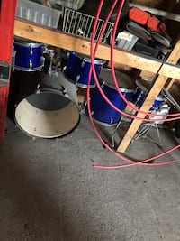 blue and white drum set Supply, 28462