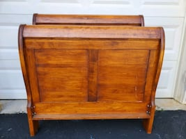 Sleigh Bed Set with Chest and an ABC Bookshelf