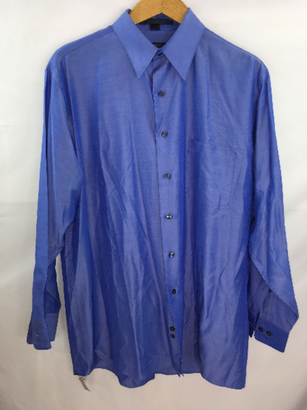 1ef09109844 Used DKNY Blue Mens Shirt Large Long Sleeve 16 1 2 - 32 33 for sale in  Queens