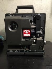 Vintage Bell and Howell movie projectors.  All working