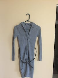Stylish sweater coat wth hoodie & leather belt / small Dover, 19904