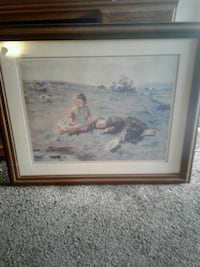 framed painting of 2 little girls in a field  Fresno, 93726