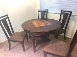Game Table and/or Kitchen Table w/ 4 Chairs