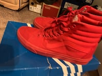 Red vans size 9 condition 7/10 need gone ASAP Orlando, 32829
