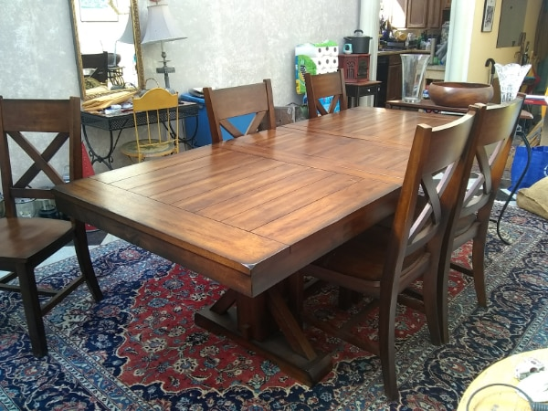 Outstanding Solid Wood Dining Table And Six Chairs Make Offer Ibusinesslaw Wood Chair Design Ideas Ibusinesslaworg