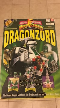Mighty Morphin Power Ranger Dragonzord with Green Ranger Vaughan, L6A 1T5