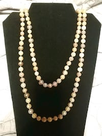 Giant strand of multi colored fresh water pearls