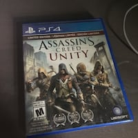 Assassin's Creed Unity PS4 game case St. François Xavier, R4L 1A9