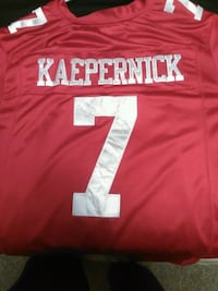 red and white Kaepernick 7 football jersey top Cambridge, N1S 2P1