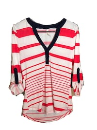 Women's Red and White Shirt Bowie, 20716