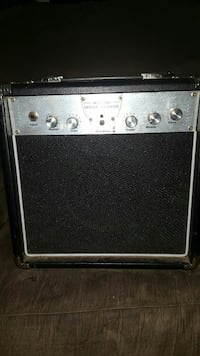gray and black guitar amplifier