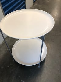 White ikea end table Germantown, 20874