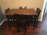 rectangular brown and black wooden dining table Louisville, 40241