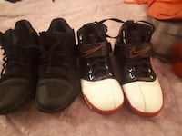 Men's Nike shoes black ones are size 9 and black,white and red ones are size 8 I'm asking $25 each  Winnipeg, R3E 2J2