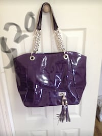 women's purple leather tote bag London, N6E 1E7
