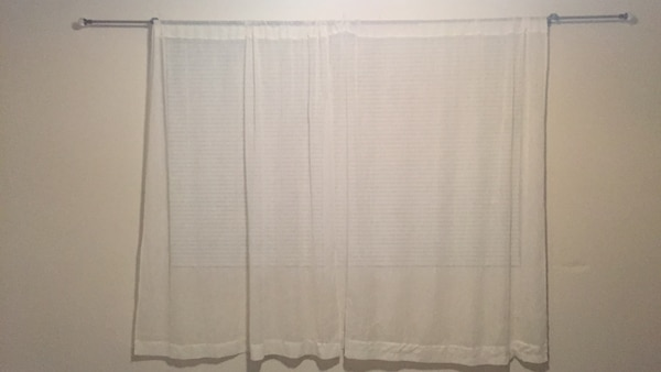 80 inch curtain rod without 80 inch curtain rod with beige sheer panels used for sale in lincoln
