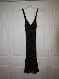 black and silver sequin v-neck tank dress Columbia, 29210