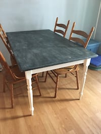 rectangular black wooden table with four chairs dining set Oceanport, 07757