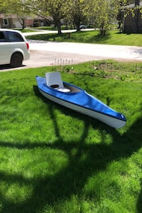 Kayak.  11ft anuak  blue and white .  It has a new paint job.