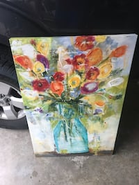white and yellow flowers painting Houston, 77002