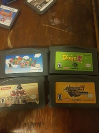 Four Nintendo 64 game cartridges