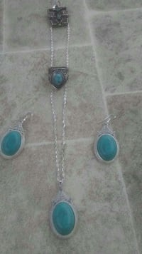 silver and teal jewelry set Portland, 97202